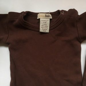 L'ovedbaby One Pieces - L'oved Baby Brown 0-3 month bundle